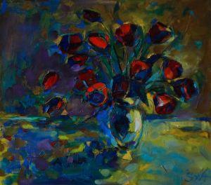 Мальовані картини Тюльпани