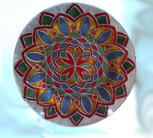 Декоративная тарелка Цветок - изображение 1