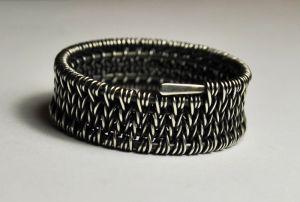 Серебряное кольцо ручной работы №3