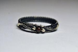 Серебряное кольцо ручной работы №4