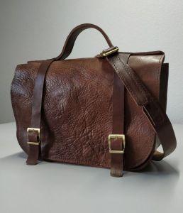 Женские сумки ручной работы Сумка сэтчел коричневая кожаная