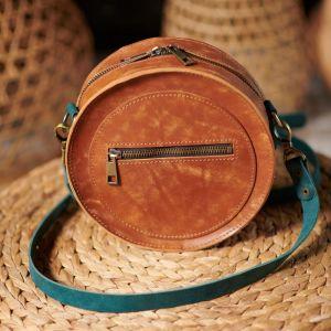 Женские сумки ручной работы Сумка из натуральной кожи Kvoka Round