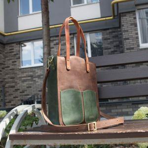 """Женские сумки ручной работы Кожаная  сумка с двумя ручками """"Alpina"""""""