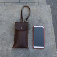Барсетка для смартфону шкіряна