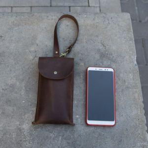 Мужские сумки ручной работы Барсетка для смартфона кожаная