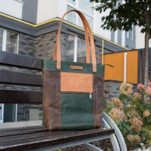 Повседневные женские сумки Дизайнерская кожаная сумка шопер