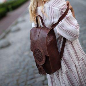 Рюкзак ручной работы Этнический кожаный рюкзак