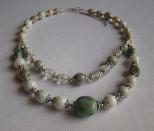 Ожерелье из нефрита Нефритовое