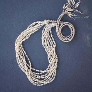 Ожерелье из бисера Жемчужное