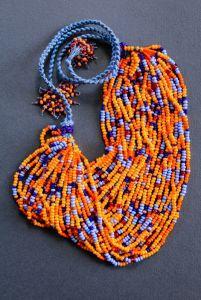 Ожерелье из бисера Жаркое