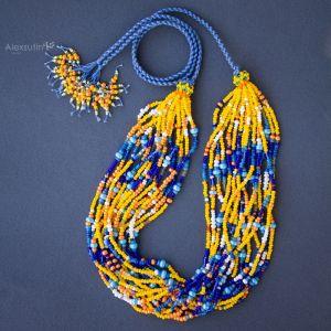 Ожерелье из бисера Радостное