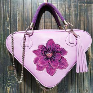 Purses Авторська жіноча сумка з натуральної шкіри з вишивкою бісером