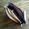 Сумочка - клатч з натуральної шкіри з вишивкою бісером