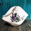 Авторська жіноча сумка з натуральної шкіри з вишивкою бісером