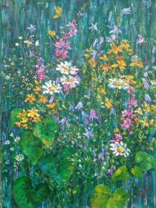 Нарисованные картины Цветы