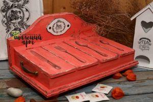 Мастерские Короб для хранения столовых приборов