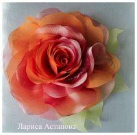 Брошь Роза любви