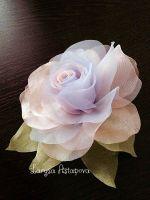 Брошка шпилька Ранкова троянда