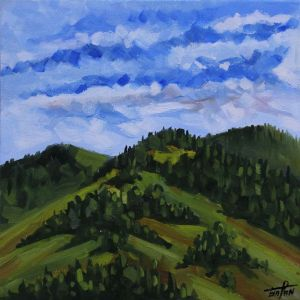 Нарисованные картины «Соседняя гора»