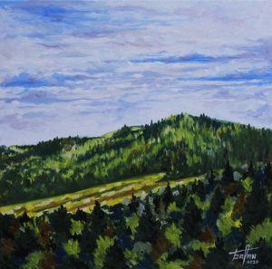 Нарисованные картины «Зеленая гора»