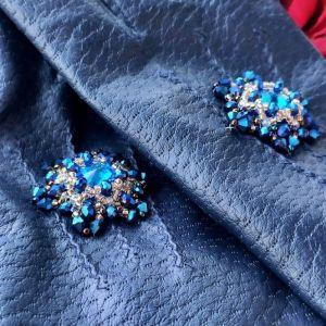 Аксессуары ручной работы Очень красивые перчатки с кристаллами Сваровски