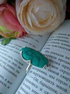 """Кольца ручной работы Серебряное кольцо """"Бирюзовая мечта"""""""
