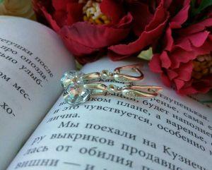 Серьги ручной работы Серьги с кристаллами Сваровски в серебре