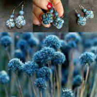 Серьги из натуральных камней