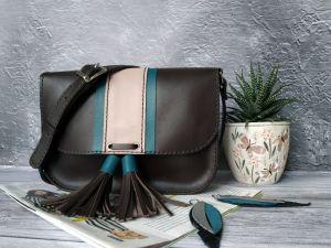 Вироби зі шкіри ручної роботи Шкіряна жіноча сумочка на плече