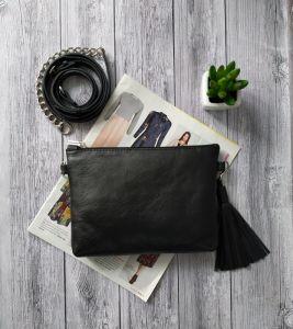 Жіночі клатчі ручної роботи Шкіряна сумочка клатч