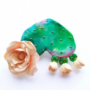 """Brooches Міні-брошка з полімерної глини """"Квітуче Серце"""""""