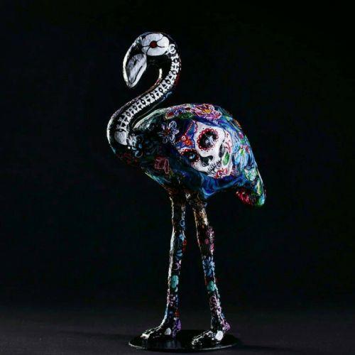 "Интерьерная фигура из папье-маше ""Фламинго"""