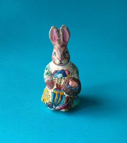 """Інтерьерная фігура з пап'є-маше """"Кролик"""""""