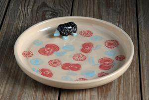"""Ceramics Тарілка, серія """"Казкові звірі"""". Їжачок."""
