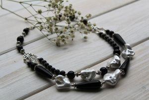 """Ожерелье из жемчуга Ожерелье из барочных жемчужин и агата """"Дар природы"""""""