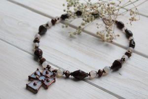 """Ожерелье из керамики Ожерелье из новогодней коллекции #DzvinkaDraft """"К яскини"""""""
