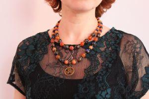 "Ожерелье из варисцита Ожерелье с Варисцит и агата ""Атлантида"""