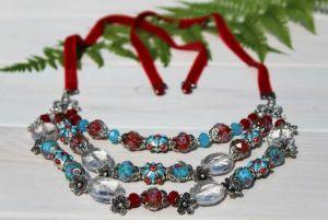Ожерелье из металла Ожерелье Цветочное