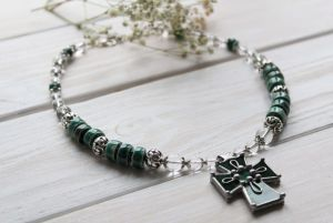 """Ожерелье из керамики Ожерелье """"Пальмовые ветви"""""""