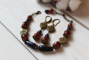 """Jewelry sets Комплект з сережок та браслета """"Зимові ночі"""""""