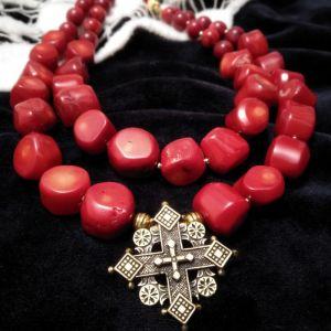 Билокопита Оксана Ожерелье с кораллом, коралл, Згарда