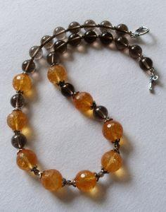 Ожерелье из кварца Летняя пора (Summertime) - посеребреная фурнитура