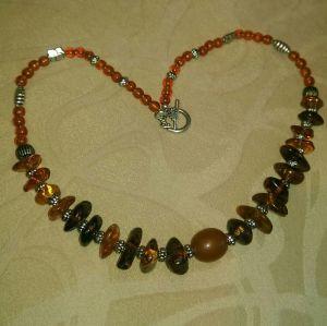 Ожерелье из меди Колье (чокер ожерелье) из янтаря