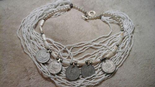Ожерелье коралловое с монетами - изображение 1