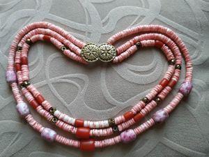 Блох Алла Намисто з рожевого коралу