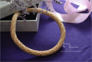 Beaded necklaces Ромби