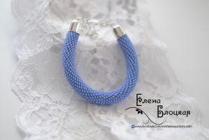 Блакитний браслет Волошки