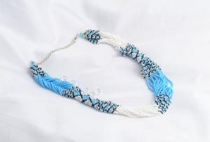 Ожерелье из бисера Небесная вышиванка