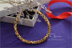 Ожерелье ручной работы Леопардовый принт