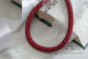 Beaded necklaces Гранат